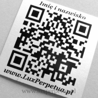Tabliczka z kodem QR